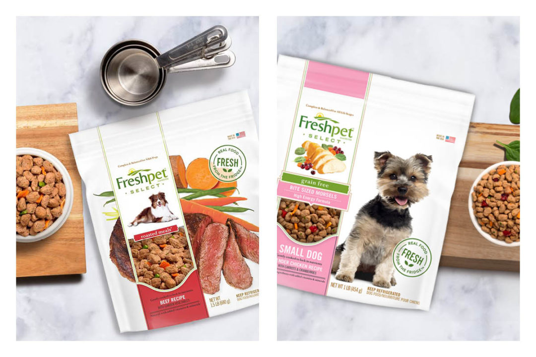 Freshpet dog food products, small dog and roasted meals
