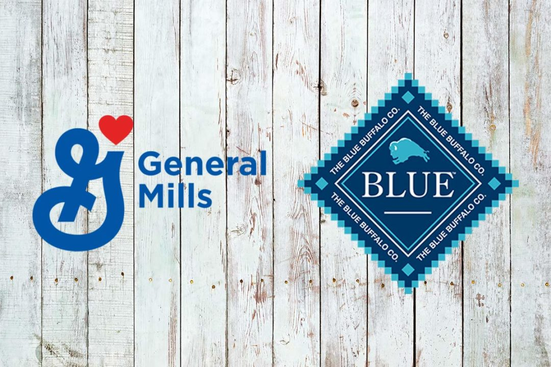 General Mills and Blue Buffalo logos on Adobe Stock background (©STOCKR - STOCK.ADOBE.COM)