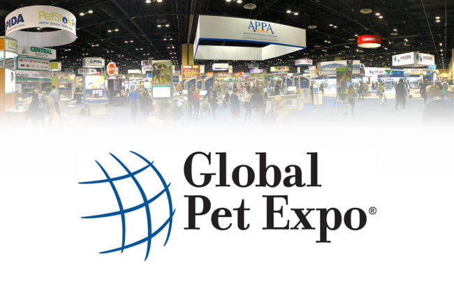 Global Pet Expo 2019 entrance and logo