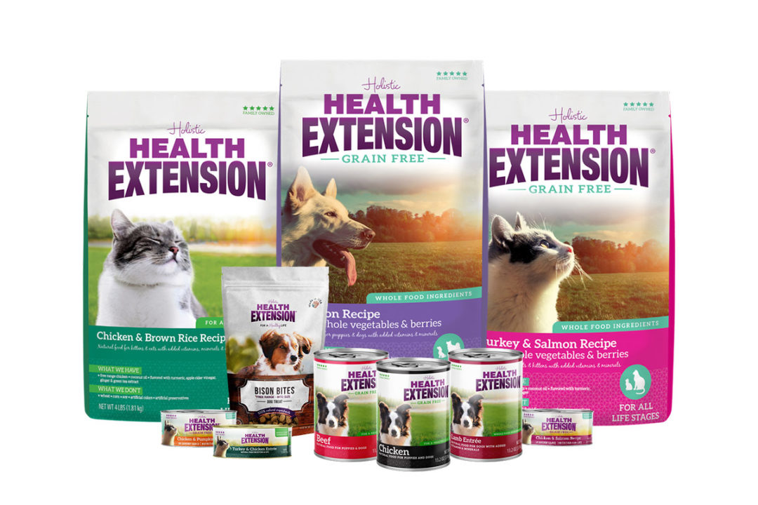 Health Extension wet and dry dog and cat food products