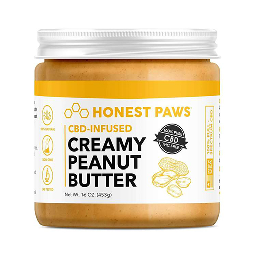 Honest Paws CBD-infused peanut butter for dogs