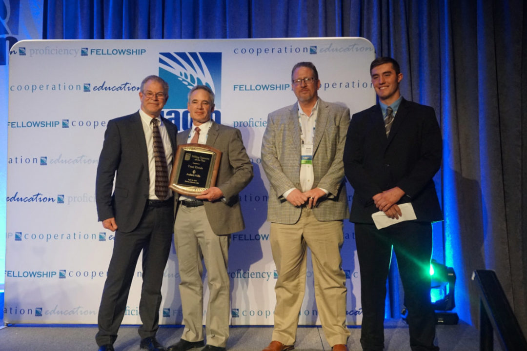 Vince Kintzle, director of technical milling at Ardent Mills, second from the left, was named 2019 Milling Operative of the Year.