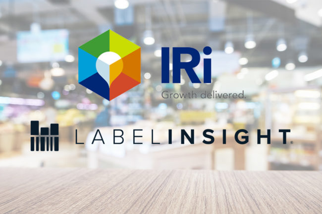 Logos of IRI and Label Insight