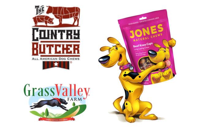 Jones Naturals brands: Jones Natural Chews, The Country Butcher, Grass Valley Farm