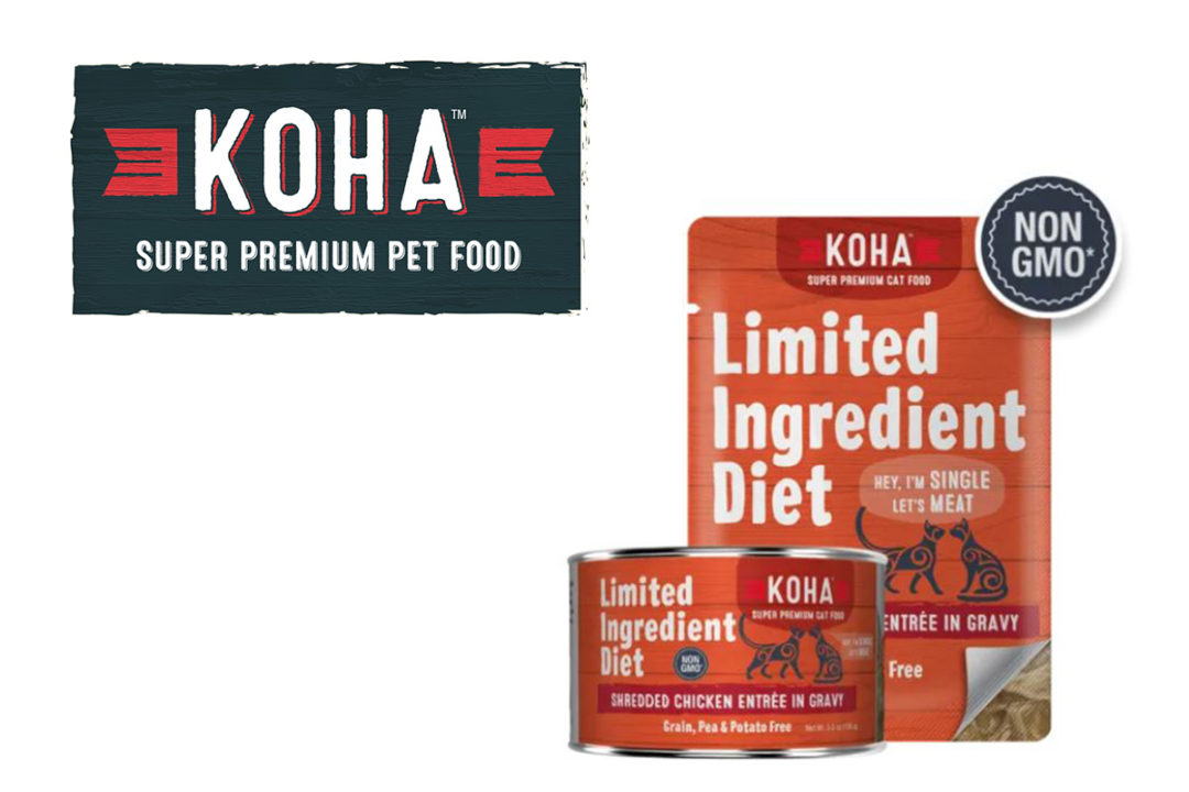 KOHA logo and new LID shredded meat cat foods