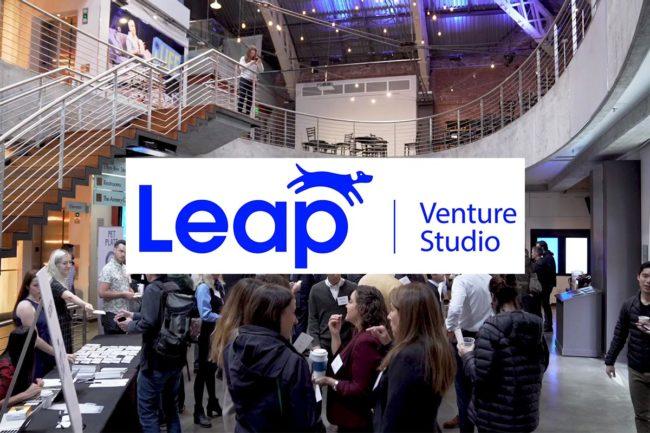 Leap Venture Studio logo, event space 2018
