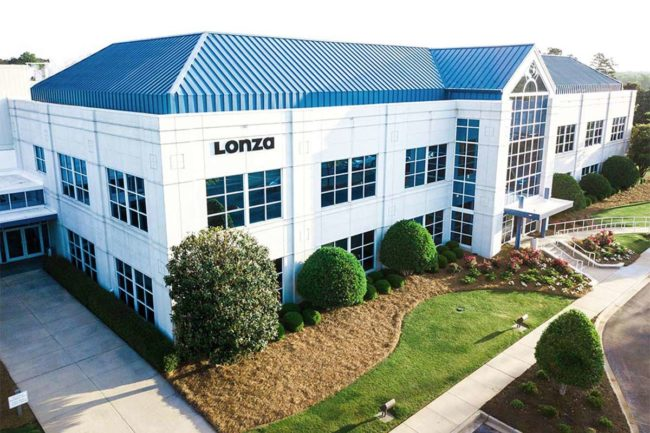 Lonza building in Greenwood, South Carolina