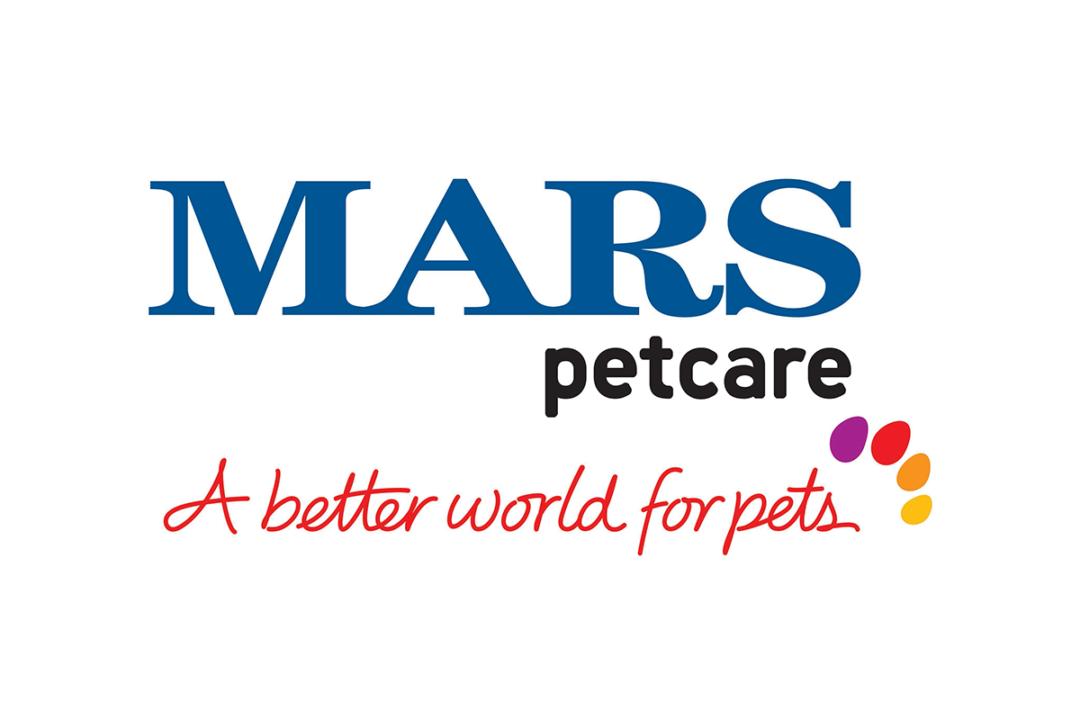 "Mars Petcare logo: ""Mars Petcare, A better world for pets"""