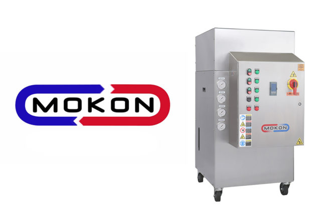Mokon logo and new sanitary circulating liquid temperature control system
