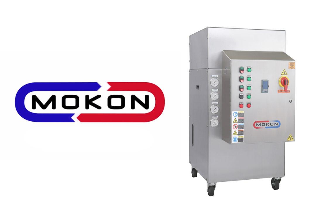 Mokon logo and new sanitary circulating liquid temperature control system