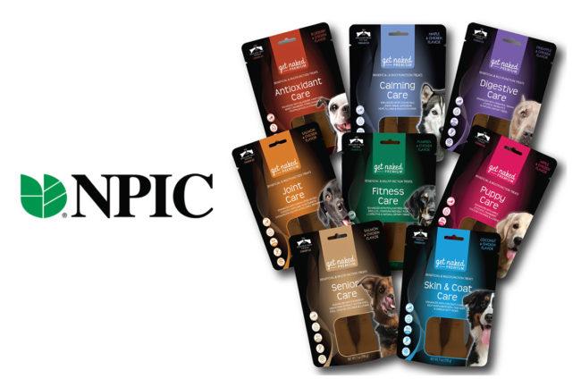 NPIC Get Naked dog treat line, multifunctional