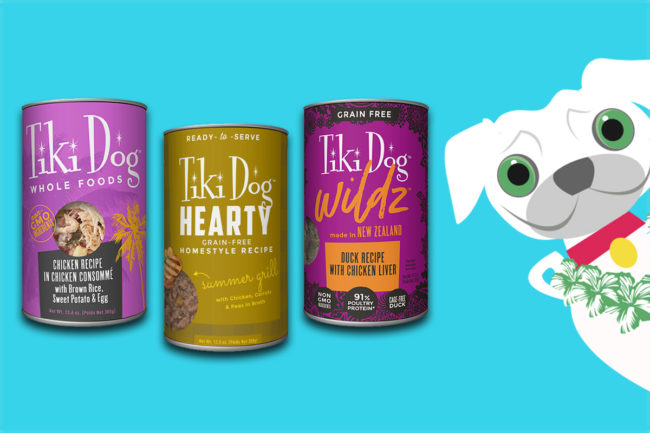 Tiki Dog new diets: Whole Foods, Hearty and Wildz.