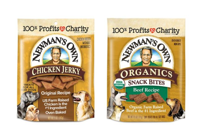 New dog treat products from Newman's Own, Inc.
