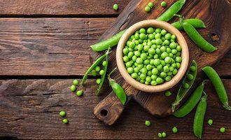 Peas lead