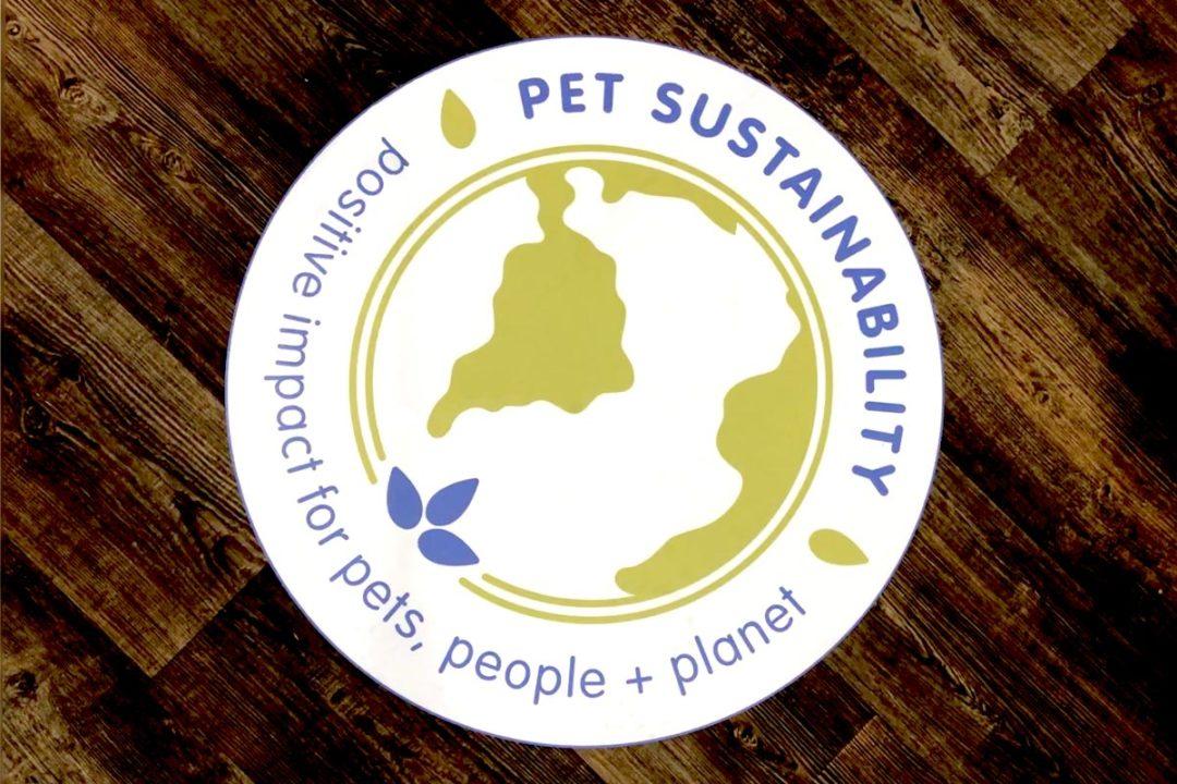 Pet Sustainability Coalition Positive Impact Program logo on the show floor of Global Pet Expo 2019