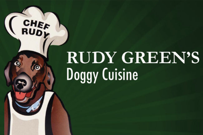 Rudy Green's dog food logo