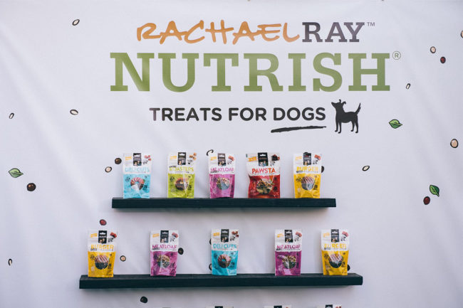 Rachael Ray Nutrish dog treat product wall