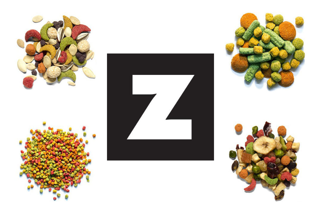 ZuPreem logo and bird feed products