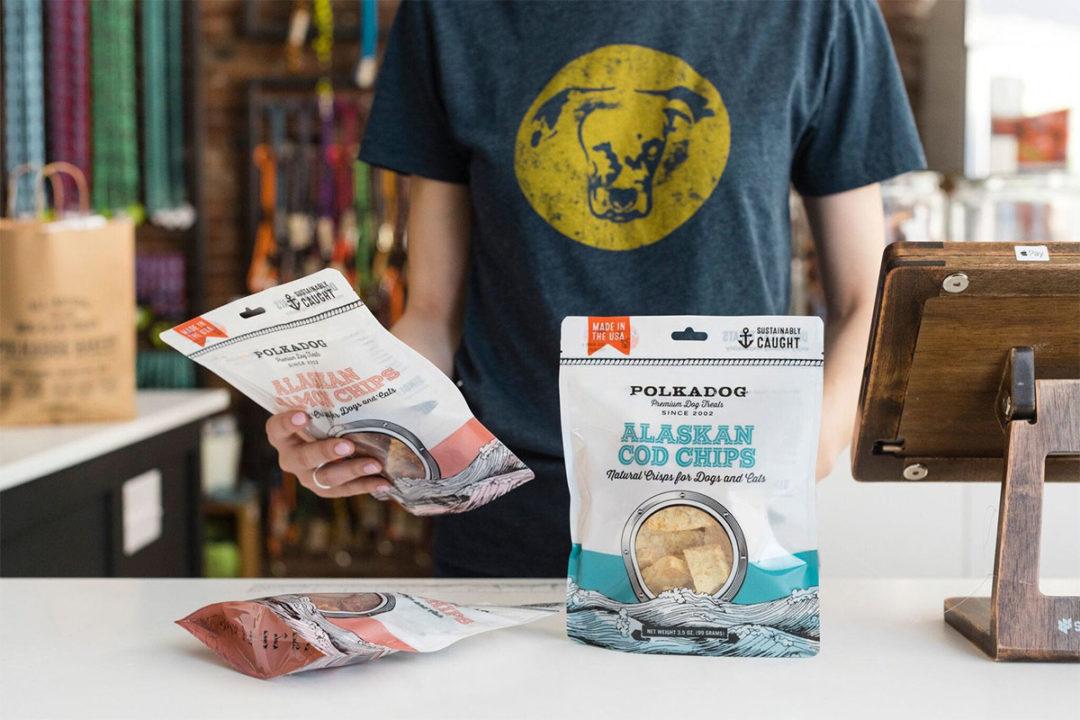 Polkadog Bakery single-ingredient fish chip pet treats