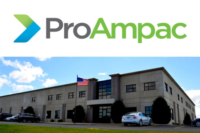 ProAmpac Hartford, Wisconsin flexible packaging facility and company logo