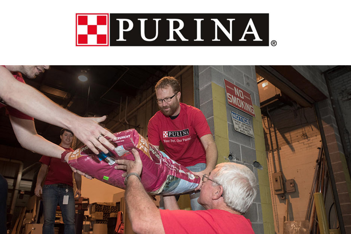 Purina donations 2018 with caption
