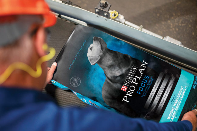 Purina ProPlan dog food packaging