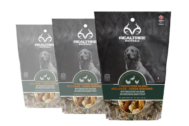 REALTREE Naturals dog treats: Turducken Blend