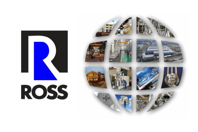 Charles Ross & Son Co. logo and mixing images in shape of a globe