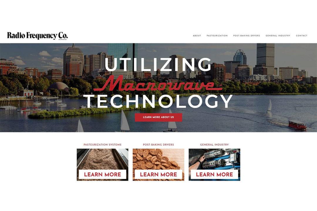 Radio Frequency Co. new website design