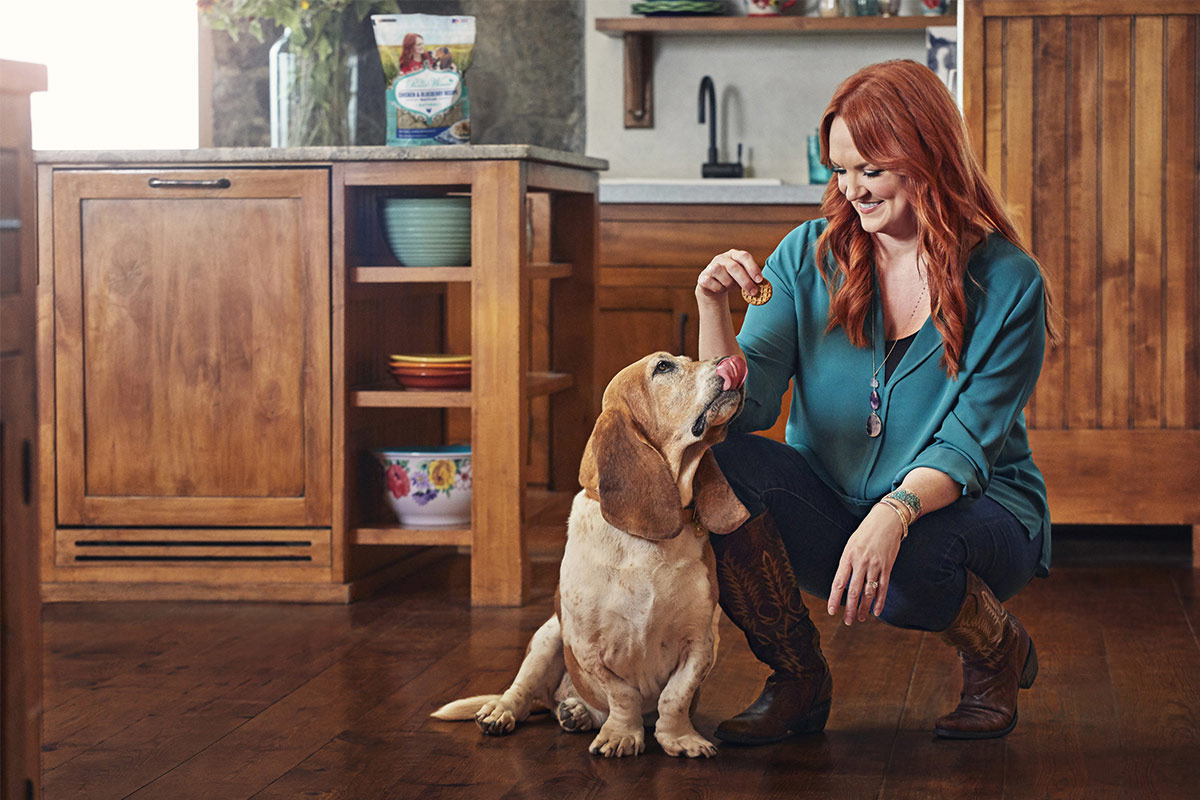 Ree Drummond with her dog