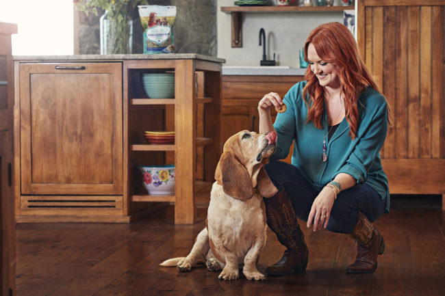 The Pioneer Woman™, Ree Drummond, with her dog