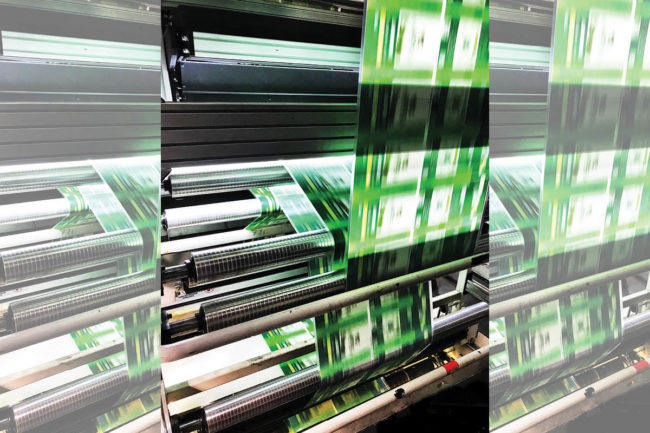 Packaging machine in motion, photo by Plastic Packaging Technologies