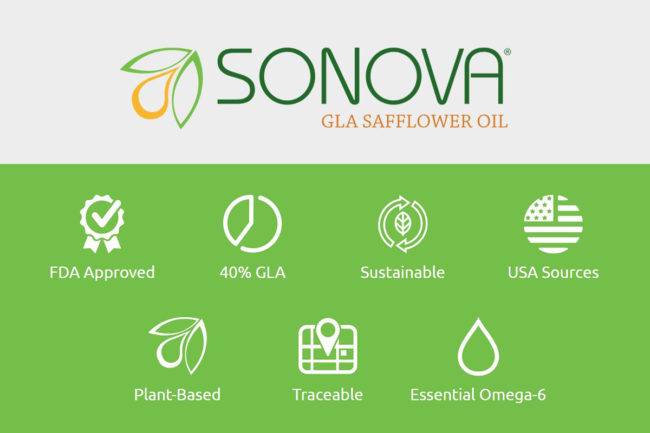 SONOVA GLA, new safflower oil ingredient key attributes