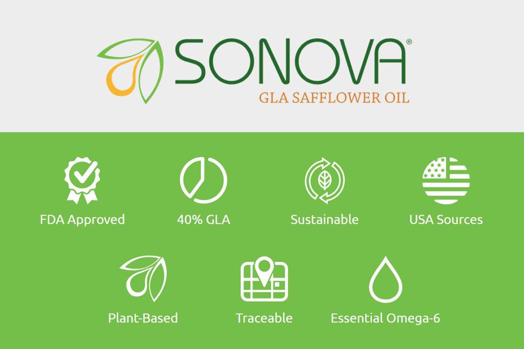 SONOVA GLA, new safflower oil ingredient key attributes