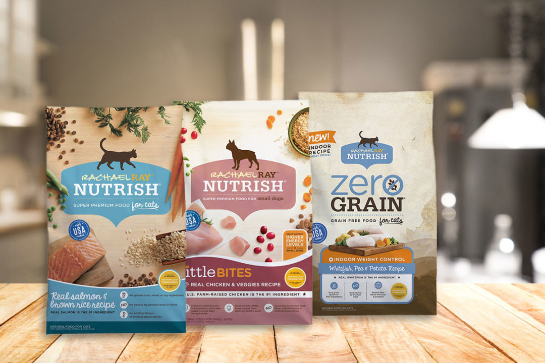 Nutrish dog and cat food products on kitchen counter (©STOCKR - STOCK.ADOBE.COM)