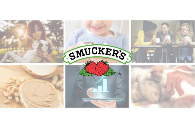 Smucker product categories and logo