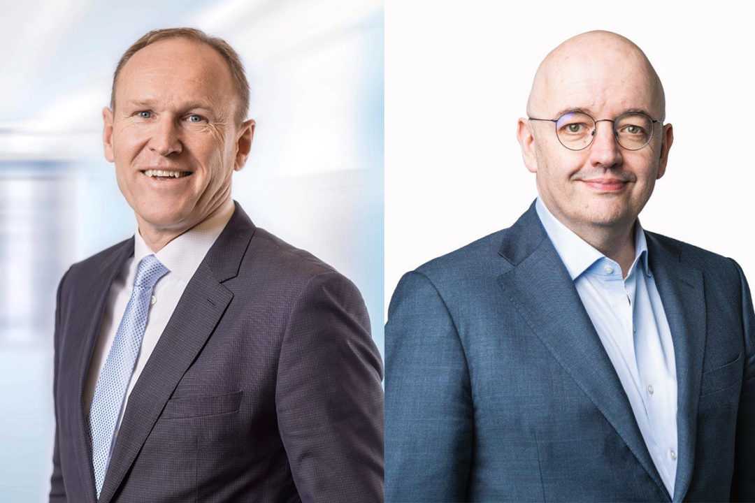 Stefan Scheiber (left), CEO of Bühler, and Peter Bakker, president and CEO of the World Business Council for Sustainable Development (WBCSD).