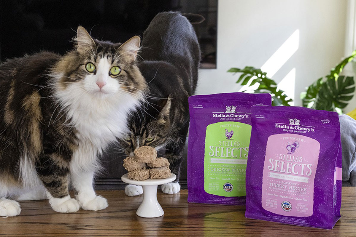 Stella's Selects frozen raw cat foods