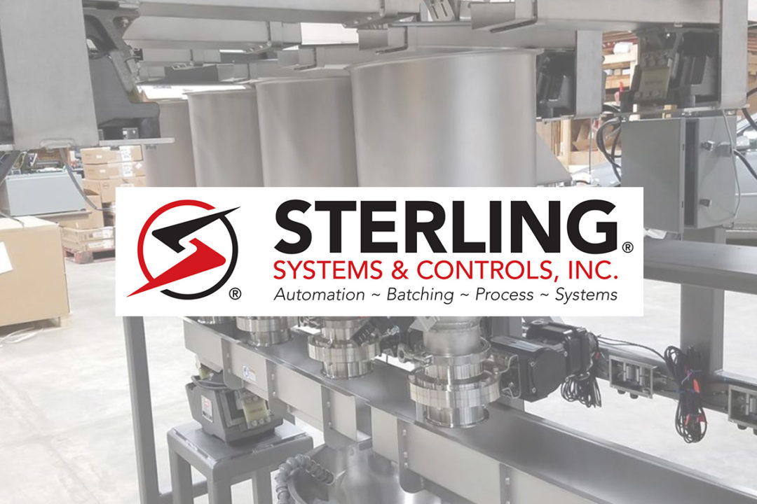 Ingredient batching system from Sterling Systems & Controls, Inc.