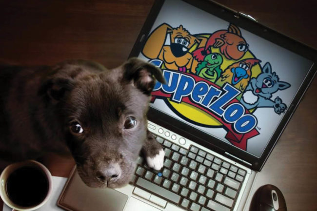 Puppy and SuperZoo logo