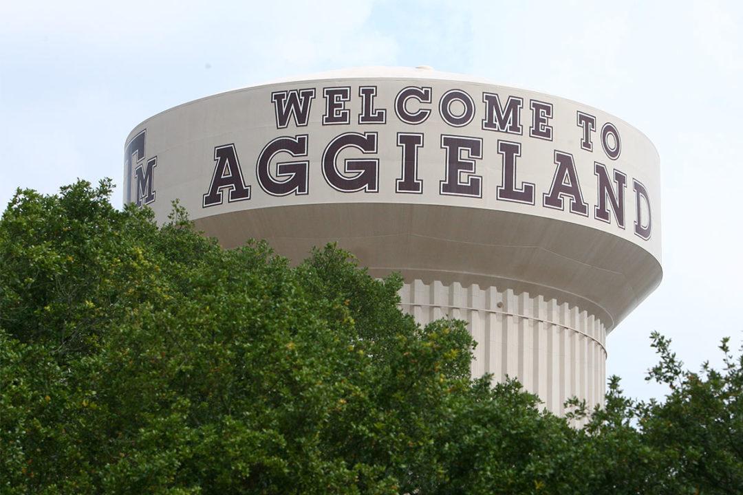 Texas A&M University watertower