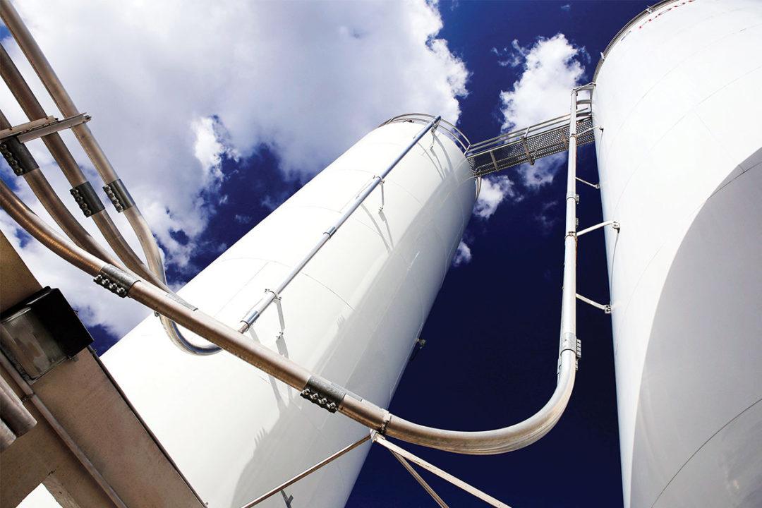 Shick Esteve ingredient storage silos