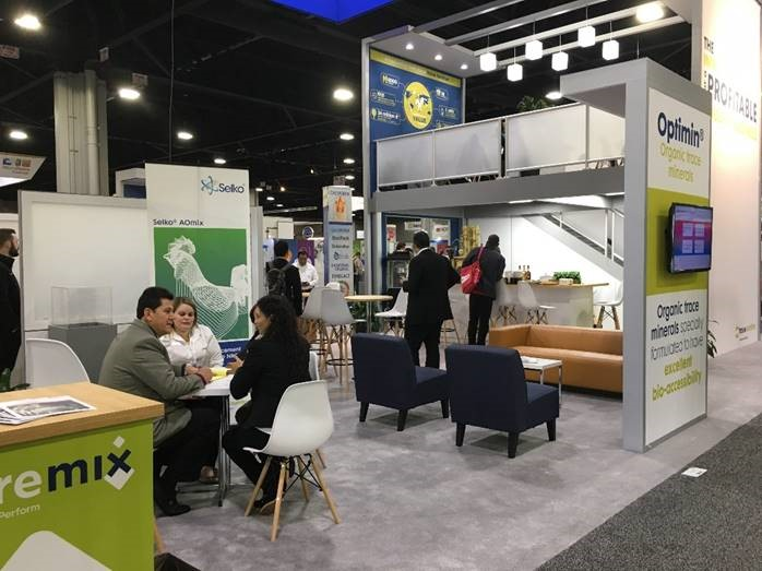 Trouw Nutrition's two-story booth at IPPE