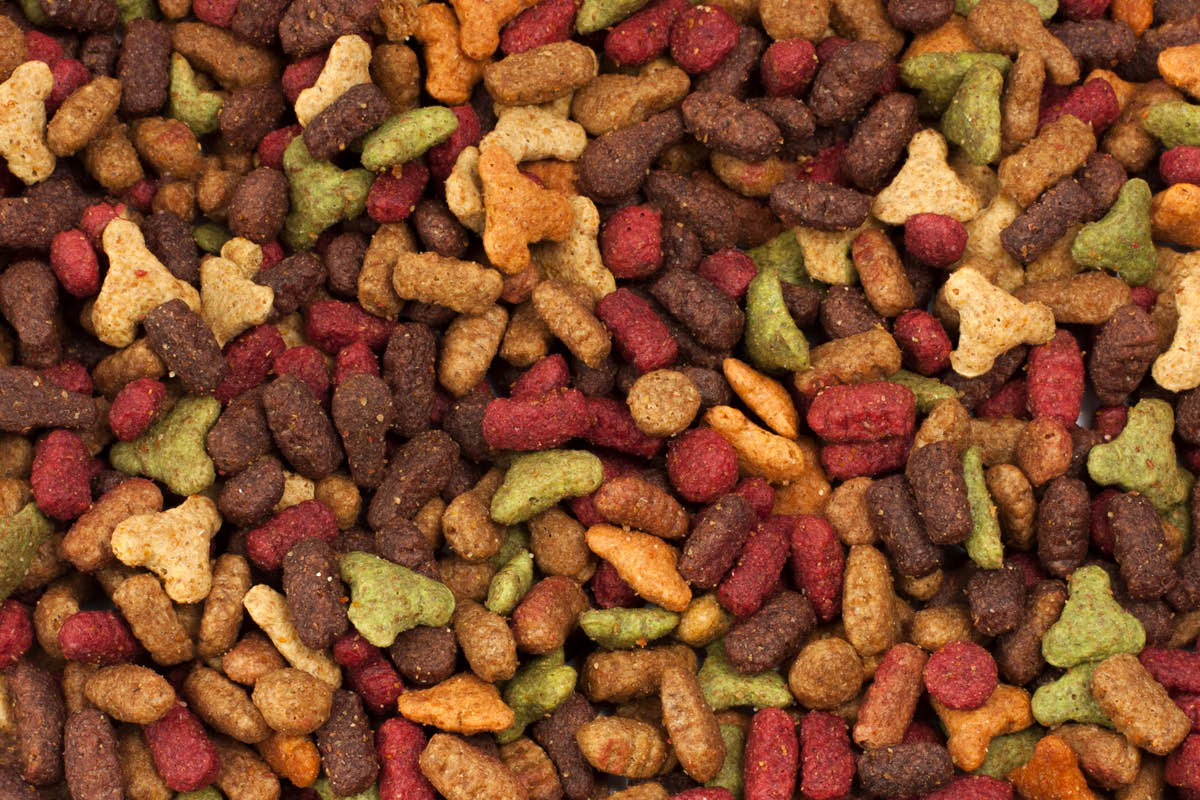 Dry kibble pet food