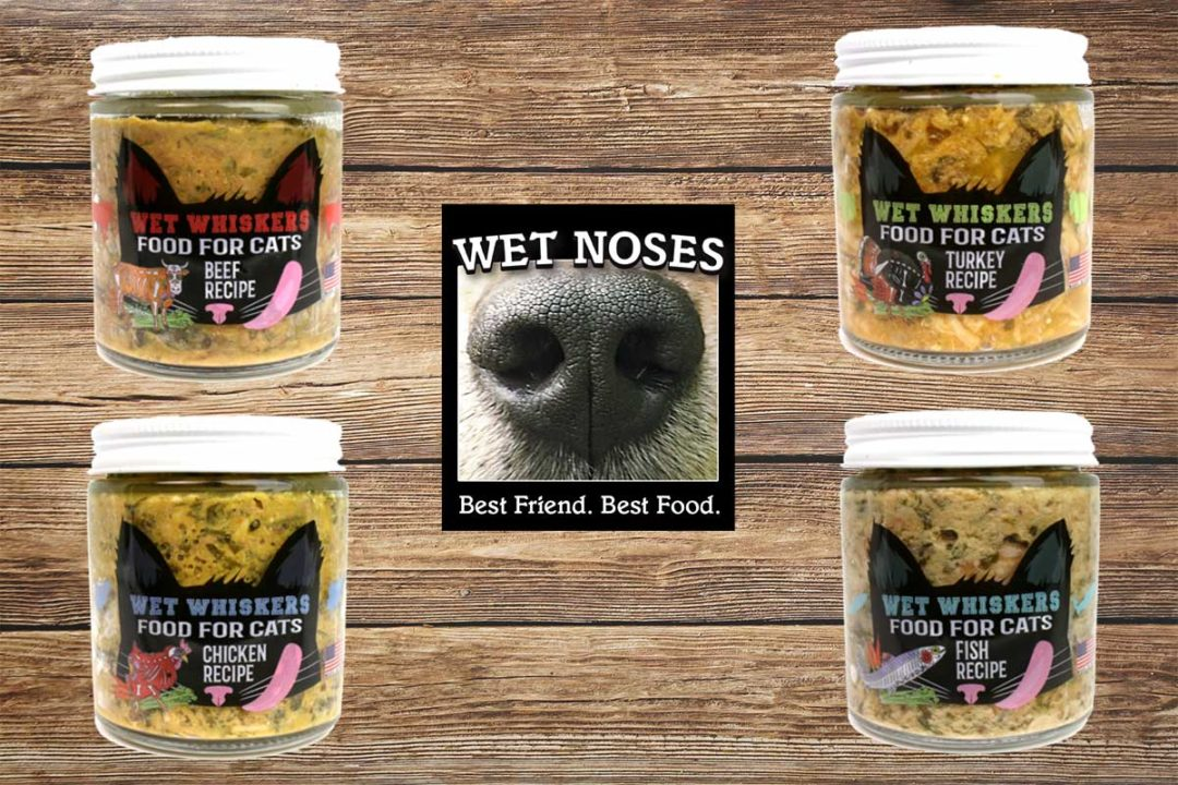 Wet Noses new Wet Whiskers cat food products and logo