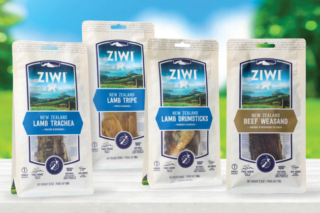 Four new Ziwi chews varieties
