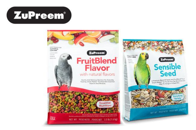 ZuPreem bird foods and logo