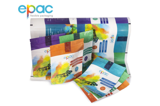 ePac Flexible Packaging logo and product