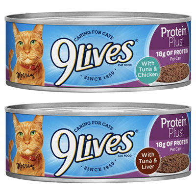 9Lives Protein Plus, Tuna with Chicken and Tuna with Liver