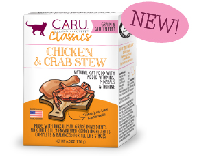 Caru's chicken and crab stew diet for cats